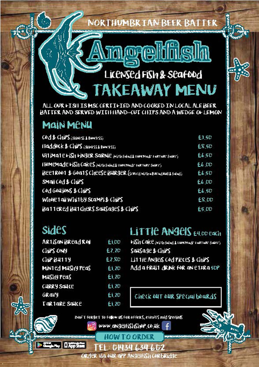 The Angelfish | The Angel Chippy at The Angel of Corbridge